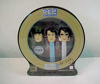 Elvis Presley 3 Pez Set in Collectible Tin -Limited Ed. of 400,000