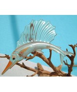 Vintage Sailfish Brooch Pin Thermoset Lucite Fi... - $49.95