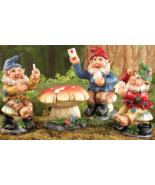 Poker Night Garden Gnome Figurines - 4 PC - $21.95