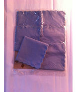 Hallie St. Mary Set of 6 Blue Linen Blend Scall... - $9.00