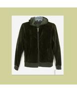 New olive green velour hoodie Zipper S NWT Bloo... - $32.99