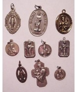 Vintage Collectible Catholic Pendants Medals lo... - $51.48