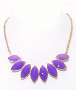 Purple Facet Jeweled Fashion Necklace  - $12.00