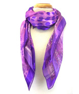 Gorgeous Purple Polka Dot and Floral Fashion Scarf - $5.95