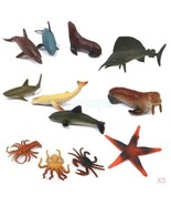 5x 12Pcs Marine Animal Model Toys Fake Suit Cog... - $15.88