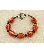 Football Bracelet Porcelain Handmade - $20.99