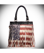 Patriotic USA Flag Fringe Tote - $45.00