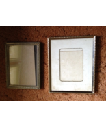 2 Vintage Picture Frames Glass Pane Gold Plate ... - $5.00