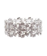 ACCESSORIESFOREVER Bridal Jewelry Crystal Rhine... - $17.50