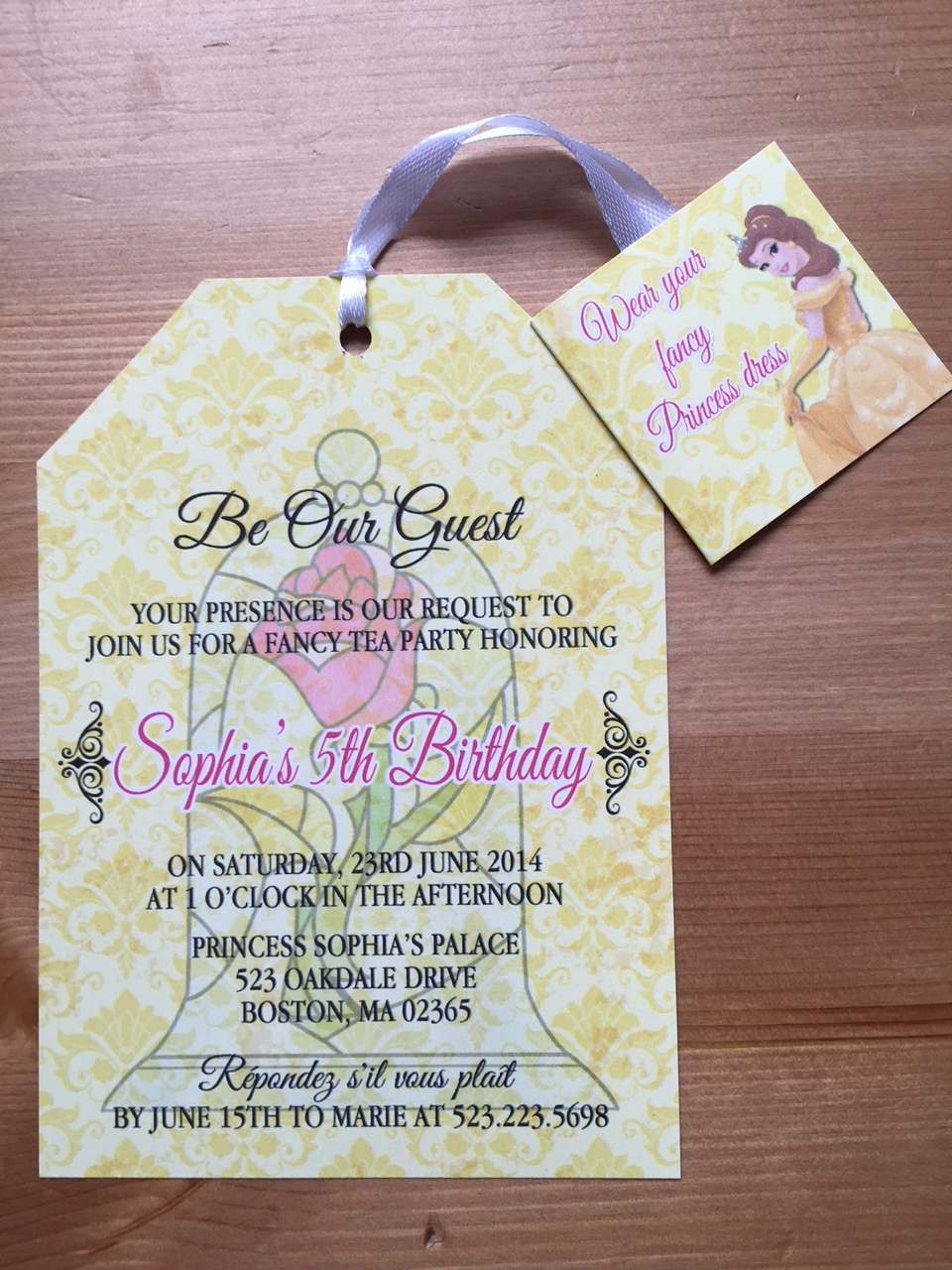 beauty and the beast tea party invitation birthday baby shower