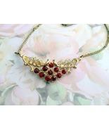 Vintage Red Crystal Choker Necklace - $9.99