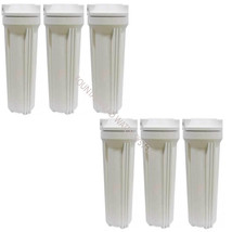 6 Reverse Osmosis RO/DI Standard White Housings fits 2.5X10