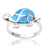 925 Sterling Silver Hawaiian Blue Inlay Opal Lo... - $18.00