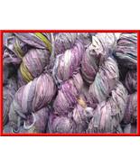 50 skeins crafts Silk Ribbon Yarn Lavender Recy... - $148.46