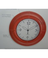 Michael Graves Saddle Stitched Wall Clock Faux ... - $32.17