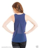Marciano Tank Top Shirt Split Back Blue Size S ... - $44.00