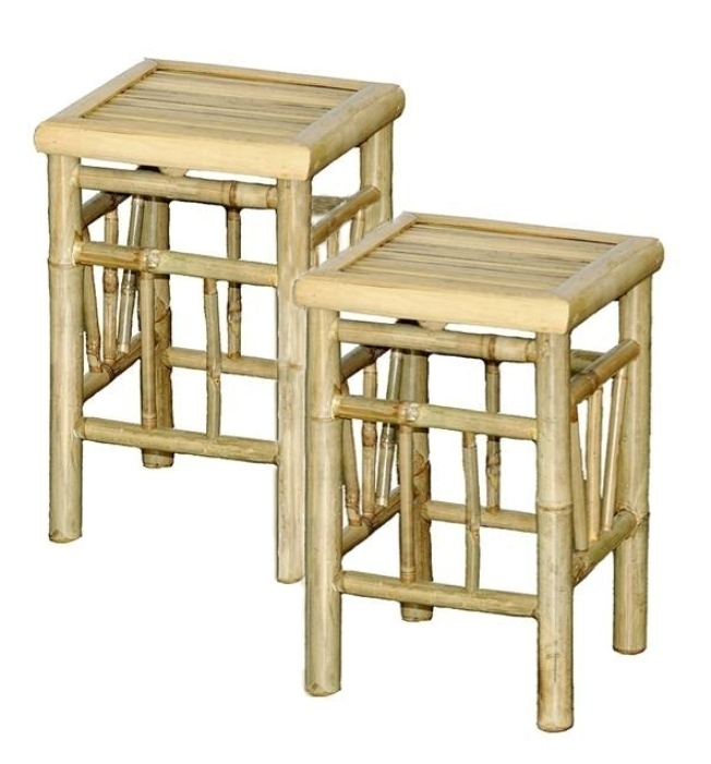 Bamboo Pedistal/Stool/Table/Plant Stands-Set of 2