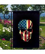 American Skull New Small Garden Flag Events Gif... - $12.99
