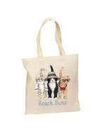 Beach Bums Cats New Lightweight Cotton Tote Boo... - $12.99