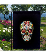 Sugar Skull Roses New Small Garden Flag, Day of... - $12.99