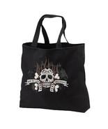 Dia De Los Muertos Skull New Black Tote Bag, Da... - $17.99