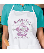 Mothers Rule New Apron Gifts Cook Bake Events G... - $19.99