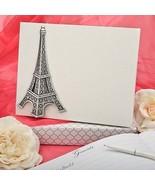 Paris Eiffel Tower Wedding Guest Book Signature... - $25.72