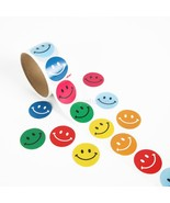 2 Rolls of 100pcs Smile Face Stickers for Kids ... - $4.52