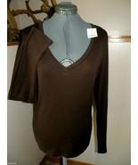 J. CREW Fitted Tee XL NWT Dark Brown Long Sleev... - $23.00