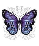 Blue and Purple Butterfly   Hooded Sweatshirt  ... - $24.70 - $32.62
