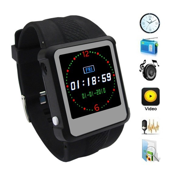 1.5-inch TFT Color Screen MP4 Watch Player with Built-in 4GB Memory