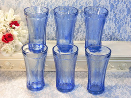 Vintage Indiana Glass Blue Madrid Recollections... - $149.99