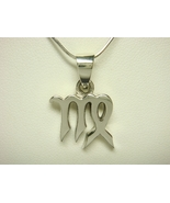 Sterling Silver Zodiac Star Sign VIRGO Charm Pe... - $15.00