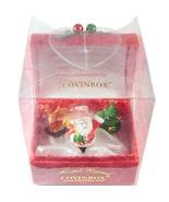 Lovinbox Christmas Box Hand Painted Santa Reind... - $16.99