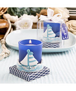 1 Sail Boat Votive Candle Beach Theme Wedding B... - $7.31