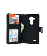 LG G4 Folio PU Leather Wallet Case - Navor (Black) - $15.50