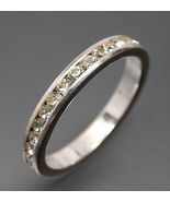 Size 8 Journey Band Ring Sparkle Channel Set Hi... - $35.00