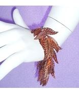 Leaf Leaves Bracelet Bronze Sequins Silver Tone... - $4.99