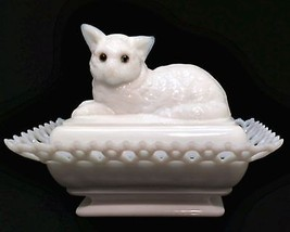 Westmoreland Cat Covered Butter Dish 6.5 inches... - $74.23