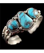 Navajo Bracelet Sterling Silver Gem Grade BISBE... - $1,682.01