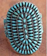 Native American Navajo Sterling Silver XL Turqu... - $721.71