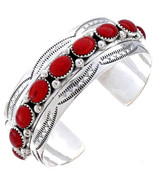 Native American Navajo Sterling Silver Deep Red... - $375.21