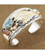 Native Navajo Sterling Silver 12KGP Turquoise C... - $375.21 - $385.11