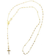 10k Gold Lady Of Guadalupe Rosary Necklace With... - $156.79