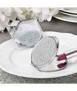 1 Bling Metal Compact Mirror Wedding Favor Bach... - $5.72