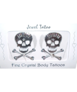 Skull Tattoo Crystal Breast Nipple Body Pasties... - $19.99