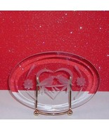 Love Birds Kissing Plaque Stand Beveled Glass C... - $9.99
