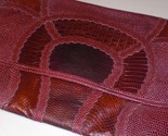 Vintage Carlos Falchi Snake Skin Clutch/Purse - :  red marron maroon purse clutch carlos falchi