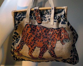 Burlap shopping tote! One of a kind! -  - Bonanzle from bonanzle.com