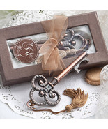 10 Vintage Skeleton Key Bottle Opener Wedding F... - $26.81